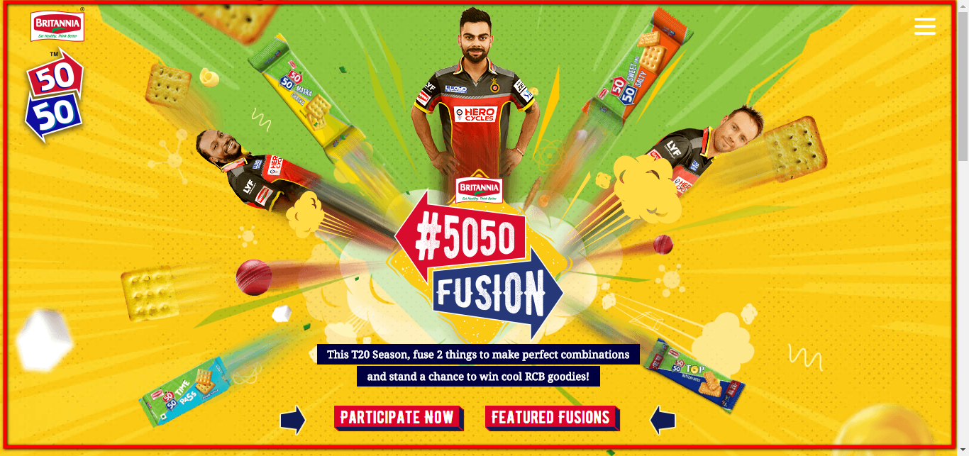Britannia 50-50 fusion contest 2016 Registration Form