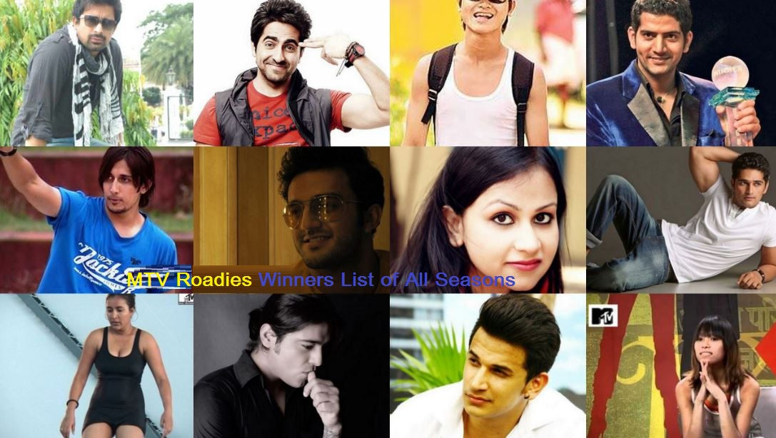 MTV Roadies Winners List of All Seasons