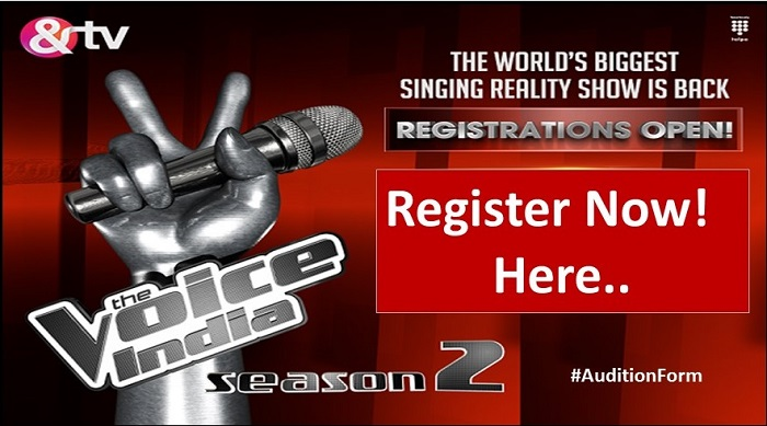 AND TV The Voice India season 2 2016 Auditions & Online Registration Details