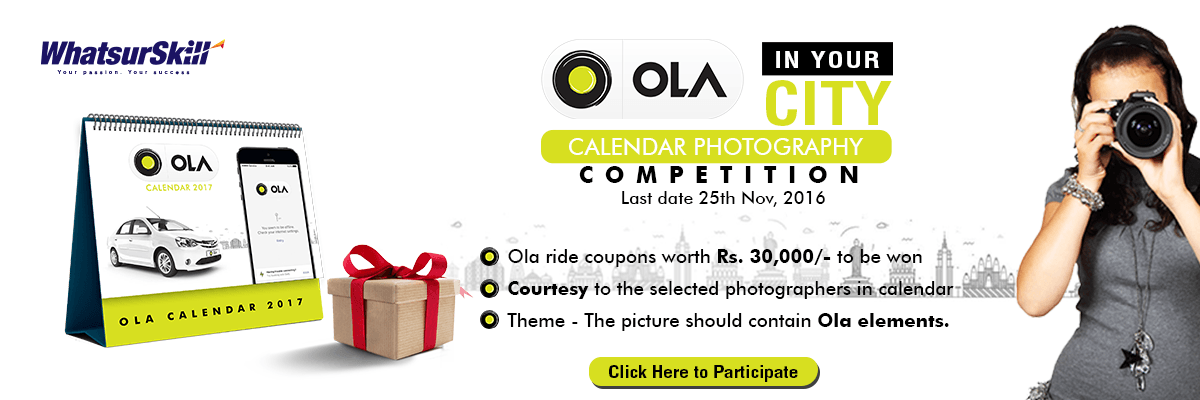 India's Calendar Photography Competition Online Registration Form