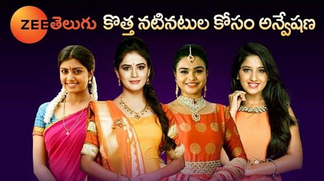 Zee Telugu Audition 2019 for Fresh Faces