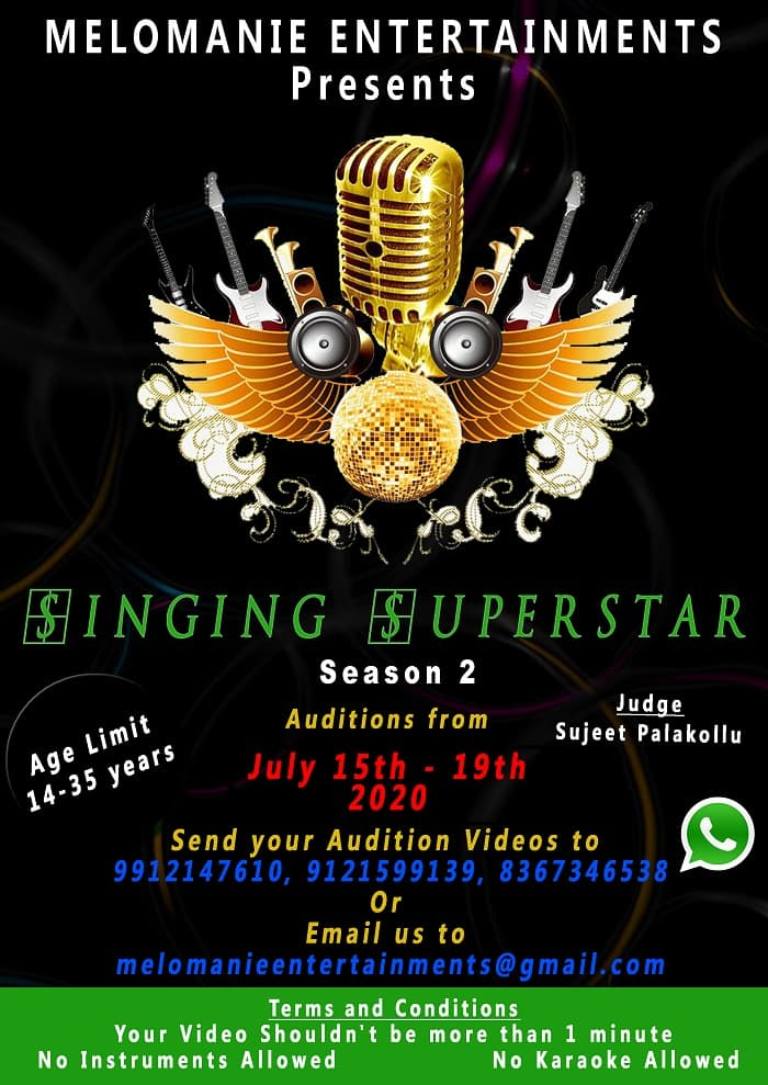 Singing Superstar 2 Registration Started by MeloManie Entertainments