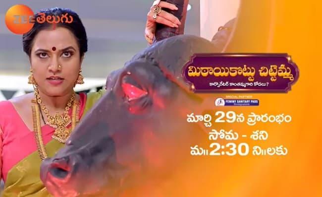 Mitaikottu Chittemma Start Date, Time, Cast, Zee Telugu Schedule 2021
